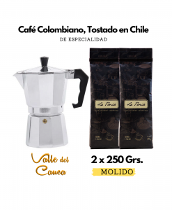 Cafetera Italiana + La Finca Valle del Cauca